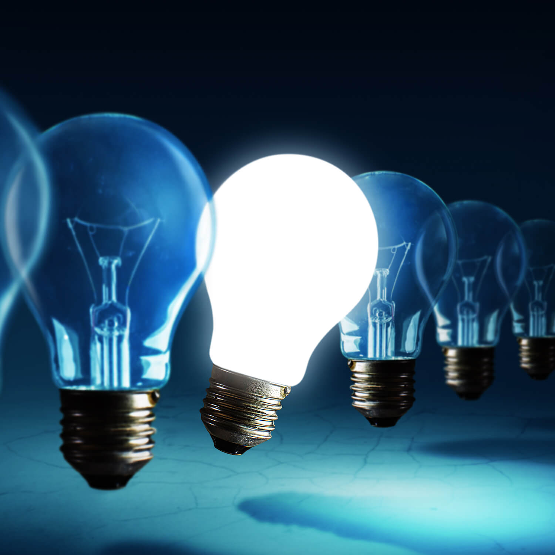 Innovation Bulb Square